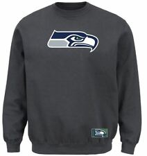 Seattle Seahawks MENS Sweatshirt Pullover Crew Sweat Shirt Heavyweight Charcoal