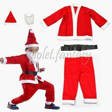 Set Of 5 Kids Christmas Santa Suit Santa Claus Costume Suit Outfit Party Wear