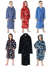 Kids Boys Fleece Bath Robe Dressing Gown Housecoat Childrens Xmas Gift 2-8 Years