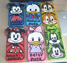 Cute 3D Cartoon Minnie mickey Graffiti Rubber Case cover for iphone 6 6S plus 5S