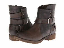 Patrizia by Spring Step DONJON Brown Harness Zip Up Casual Fashion Ankle Boots