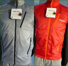 Men's Marmot #50760 Stride DriClime Wicking Vest Small, Steel or Red, New $90