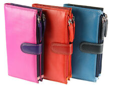 Visconti Bifold Multi Compartment Leather Purse / Wallet For Ladies - ( RB100 )