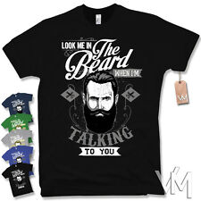 LOOK ME IN THE BEARD T-Shirt - Retro Vintage Moustache Beard Fun S M L XL XXL