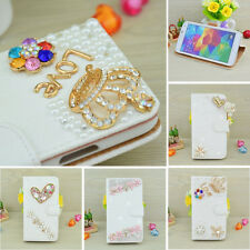 Bling Crystal Diamond Case Cover Flip Leather Wallet For Samsung Galaxy Note 4