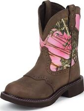 Justin Gypsy Women's Round Toe Western Boots Aged Bark Leather Medium L9610