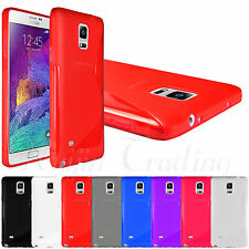 S Line Glossy Soft Gel TPU Back Case Cover Rubber Skin For Samsung Galaxy Note 4