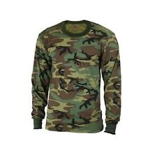 Mens Camouflage T-Shirt - Long Sleeve, Woodland Camo by Rothco
