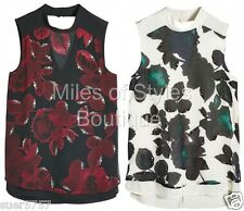 New NEXT Floral Embellished Christmas Party Top Vest Size 10 12 14 16 18 20