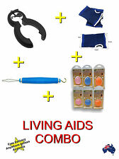 Deluxe Daily Living Aids Combo / Squeeze Ball / Anti-slip Glove / Zipper Aid
