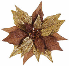 """10"""" GLITTERED ARTIFICIAL POINSETTIA WITH CLIP"""
