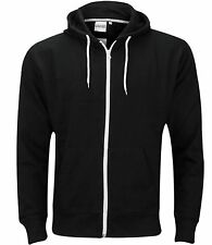 Mens Boys Hoody Sweatshirt Plain American Hooded Fleece Zip Up Jacket Zipper Top