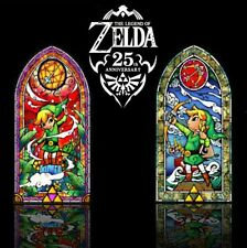 "Legend of Zelda Wind Waker 42"" Stained Glass Wall Decal, Silver or Hero's Bow"