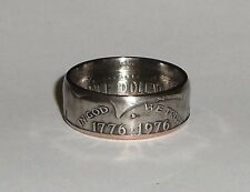 Coin ring made from 1976 KENNEDY BICENTENNIAL US HALF DOLLAR sizes  9-14