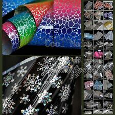 1 Roll of 56 Designs Nail Art Polish Glue Transfer Foil Tips Deco Cartoon Fancy