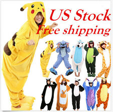 Pikachu Unisex Adult Pajamas Kigurumi Cosplay Costume Animal Onesie Sleepwear