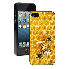 "For iPhone 4 4S 5 5S 5c 6 4.7"" 6 Plus Hard Case Cover 873 Bees on Honey Comb"