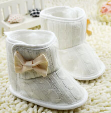 New ZARA BABY Soft Sole Baby Girl Bow Winter Bootees Crib Shoes. Age 3-18 Months