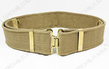 British Army 37 Pattern KHAKI WEBBING EQUIPMENT BELT - All Sizes - WW2 Repro