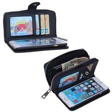 PU Leather Wristlet Cash Clutch Wallet Card Slot Phone Case For Apple iPhone 5S