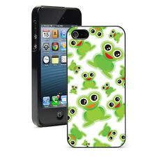 "For iPhone 4 4S 5 5S 5c 6 4.7"" 6 Plus Hard Case Cover 300 Happy Green Frogs"