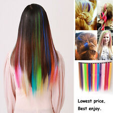 2xSynthetic Single Clip In Straight Hair Extensions Various of Colours Available