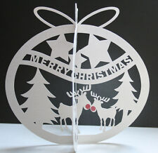 Robo Silhouette Cameo Studio SVG GSD 3D Reindeer Trees Christmas Bauble Template