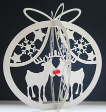 3 Beautiful Unique ChristmasTable Decorations Centrepieces Deer Tree Snowmen ++