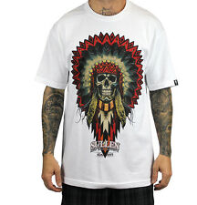 SULLEN CLOTHING HAYS INDIAN CHIEF WHITE  SKULL TATTOO SCENE INK T SHIRT