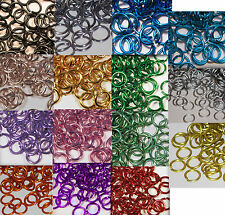 18g 1/4'' ID Aluminum JUMP RINGS CHOOSE COLOR Saw Cut chainmail chain mail