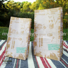 Vintage style Kraft Brown Paper Gift Bags_Flat bottom standup bag_Small Medium