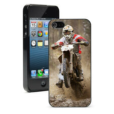 For Apple iPhone 4 4S 5 5S 5c 6/6 Plus Hard Case Cover 1368 Motocross Racer Mud