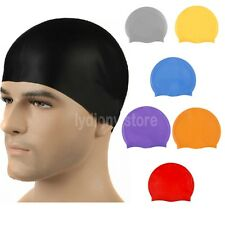 Summer Silicone Waterproof Swimming Cap Adults Children Bath Shower Hat