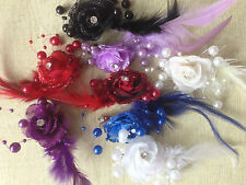 Wedding Party Feather Brooch Hair Clip