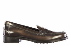TOD'S WOMEN'S LEATHER LOAFERS MOCCASINS NEW BROWN  B91