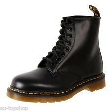 Genuine Dr. Martens Doc. Unisex Leather 8 Up Ankle Boots 1460 Black Smooth Cheap