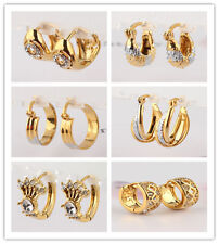 Women 14k Gold Filled Environmental Hoop Earrings Jewelry In 23 Styles