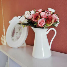 French Style European White Ceramic Flower Vase Jug Pitcher Porcelain Decor Vase