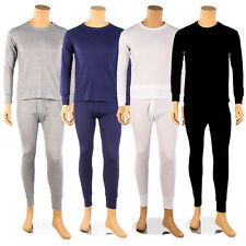 Mens 100% COTTON 2pc Thermal Underwear Set Long John Waffle Top Bottom M L XL 2X