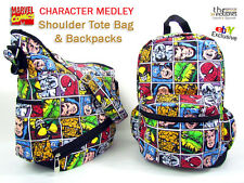 Marvel Comics: Backpack Shoulder Messenger Sling Book Bag Travel Tote Sack