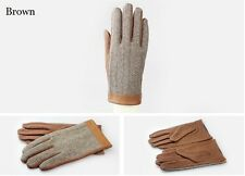 Wool&real leather Men driving gloves winter warm gloves