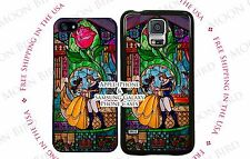 NEW Disney Stained Glass Beauty and the Beast Dance Scene Phone Case Cover