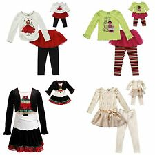 Dollie & Me Girl and Doll Matching Christmas Dress Outfit Clothes American Girls