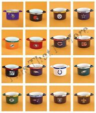 NFL Football Team Gameday Sculpted Ceramic Soup Chili Dip Bowl NEW