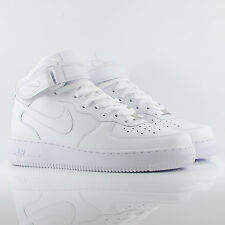 d9c56802be12 Nike Air Force 1 Mid 07' High Top White/White Classic Trainers 315123-