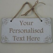 Personalised Your Own Text Shabby Wooden Family Sign Plaque Wedding Valentines