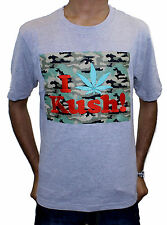 Mens Womens State Property I LOVE KUSH! Dope Slim Fit Cheap Crew Neck-Grey