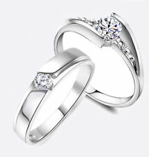 Mad cheap jewelry couples rings classic white topaz gemstones 925 silver