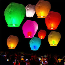 5pcs Colorful Fire Sky Chinese Kongming Float Wedding Wishing Paper Lantern