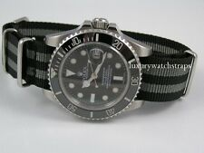 HIGH QUALITY BALLISTIC NYLON  WATCH STRAP FOR ROLEX SUBMARINER JAMES BOND UK